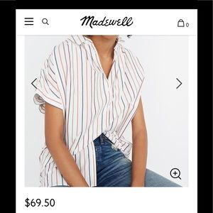 Madewell Central Sadie shirt size small $70